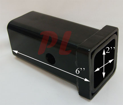 Inch x 6 inch hitch receiver tube