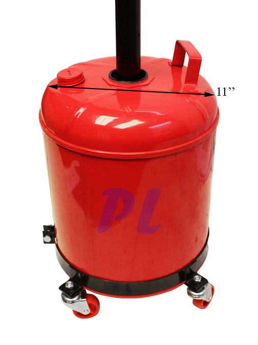 Portable 5 Gallon Telescopic Oil Waste Drain Dolly Lift