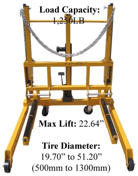 how to change a dolly tire
