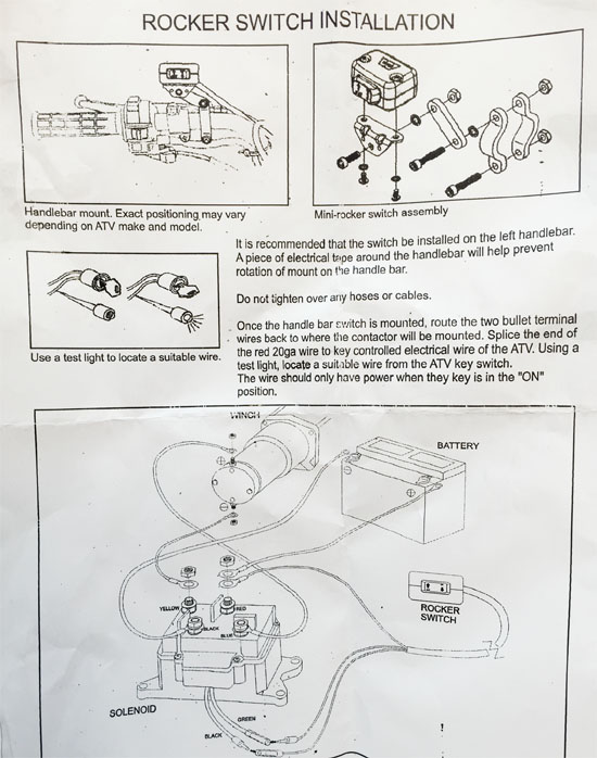 Dominator Winch Wiring Diagram : Wiring diagram for warn winch solenoid problems