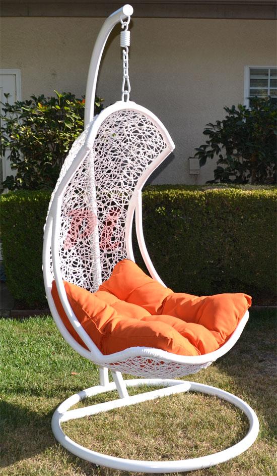 Egg Shape Wicker Rattan Swing Bed Chair Weaved Hanging ...