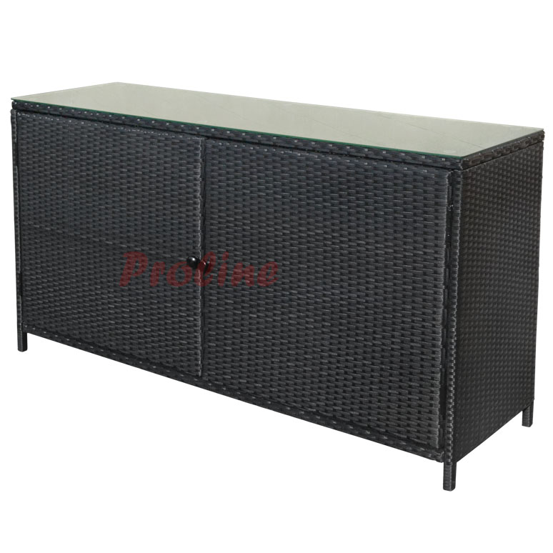Details About 59 Wicker Rattan Buffet Serving Cabinet Table Towel Storage Counter Outdoor